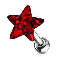 Cartilage piercing do ucha - hvězdička f49ce8850a6