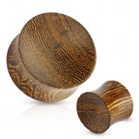 Plug do ucha Snake wood - 10 mm