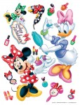 Samolepka na zeď Disney Minnie make up 65 x 85 cm AG Design DK 1767