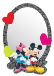Zrcadlo Disney Mickey a Minnie 15 x 21,5 cm AG Design DM 2108